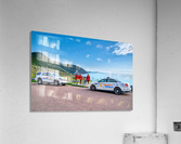 RCMP at ease with cruisers at French Mountain Monument  Acrylic Print