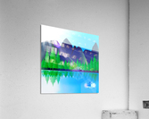 forest landscape pine trees forest  Acrylic Print