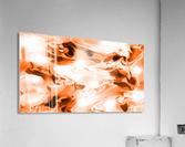 Orange Cream - orange black white swirls abstract wall art  Acrylic Print