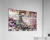 Graffiti Wall Background  Acrylic Print