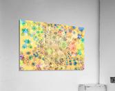 flowers color colorful watercolour  Acrylic Print