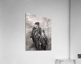 sea fishing fishing man boy lad  Acrylic Print