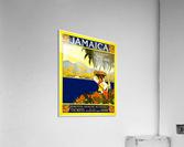 vintage retro poster travel  Acrylic Print