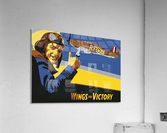 vintage war pilot airplane victory  Acrylic Print