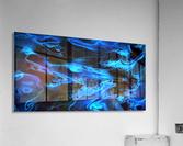 True Lightning - blue white black swirls abstract wall art  Acrylic Print