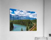 Train Tracks and River Bend  Acrylic Print