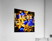 Blue and Gold Plastic Jewels  Acrylic Print
