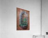 Wall Alcove with Plants - Trompe Loeil  Acrylic Print