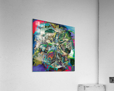 mottled multicolored abstract composition  Acrylic Print