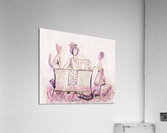 La couturière et ses chats  Acrylic Print