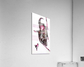 noir_blanc_rose  Acrylic Print