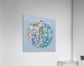 RONDI pastel light blue background  Acrylic Print