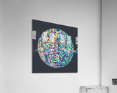 RONDI pastel dark grey background  Acrylic Print