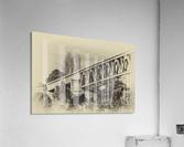 Railway Bridge in B&W  Acrylic Print