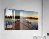 Dock at sunset  Acrylic Print