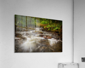 The wooden bridge over the river Melin  Acrylic Print