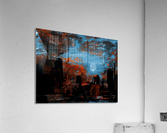 NYC Waterfront Abstraction  Acrylic Print