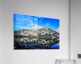 Teton reflection in Jenny lake  Acrylic Print