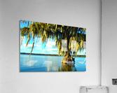 Blue Sky Green Leaves  Acrylic Print