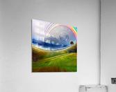 Painterly Peaceful Landscape  Acrylic Print