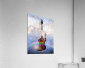 Bass Guitar with Dancer  Acrylic Print