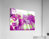 Sofa & Pillows -- Purple & Green  Acrylic Print