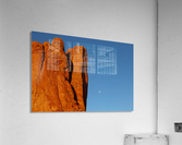 Red Rock and the Moon-BDR4129  Acrylic Print