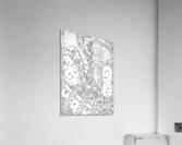 Wandering Abstract Line Art 02: Black & White  Acrylic Print