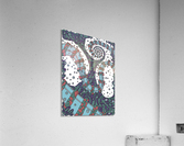 Wandering Abstract Line Art 02: Blue  Acrylic Print