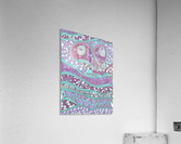 Wandering Abstract Line Art 03: Pink  Acrylic Print