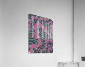 Wandering Abstract Line Art 04: Pink  Acrylic Print