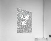 Wandering Abstract Line Art 05: Black & White  Acrylic Print