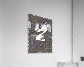 Wandering Abstract Line Art 05: Yellow  Acrylic Print