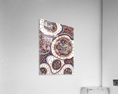 Wandering Abstract Line Art 06: Orange  Acrylic Print