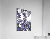 Wandering Abstract Line Art 07: Purple  Acrylic Print