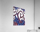 Wandering Abstract Line Art 08: Purple  Acrylic Print