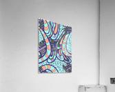 Wandering Abstract Line Art 09:   Acrylic Print