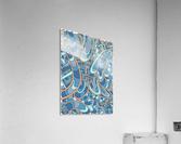 Wandering Abstract Line Art 09: Blue  Acrylic Print