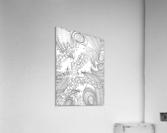Wandering Abstract Line Art 10: Black & White  Acrylic Print