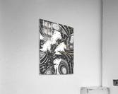 Wandering Abstract Line Art 10: Grayscale  Acrylic Print