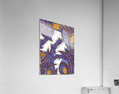 Wandering Abstract Line Art 10: Purple  Acrylic Print
