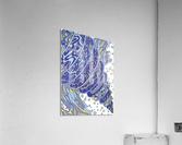 Wandering Abstract Line Art 11: Blue  Acrylic Print