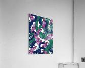 Wandering Abstract Line Art 13: Green  Acrylic Print