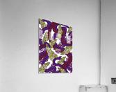 Wandering Abstract Line Art 13: Burgundy  Acrylic Print