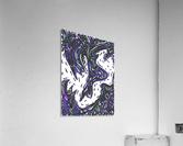 Wandering Abstract Line Art 14: Purple  Acrylic Print
