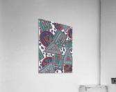 Wandering Abstract Line Art 15: Blue  Acrylic Print
