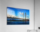 South Stanchions of the Indian River Inlet Bridge  Acrylic Print