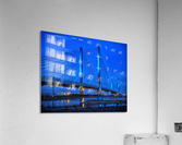 Blue Bridge In The Rain At Indian River Inlet  Acrylic Print