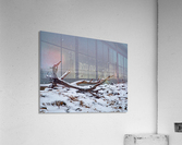 Indian River Bridge with Driftwood and Snow  Acrylic Print