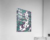 Wandering Abstract Line Art 20: Green  Acrylic Print